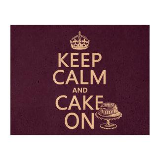 Keep Calm and Cake On Cork Paper Print