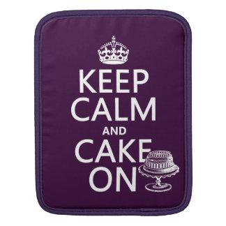 Keep Calm and Cake On Sleeve For iPads