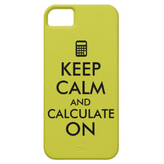 Keep Calm and Calculate On Calculator Custom iPhone SE/5/5s Case