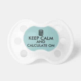 Keep Calm and Calculate On Calculator Custom Pacifier