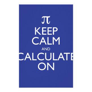 Keep Calm and Calculate On Custom Stationery