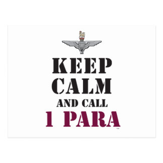 KEEP CALM AND CALL 1 PARA POSTCARD