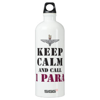 KEEP CALM AND CALL 1 PARA WATER BOTTLE