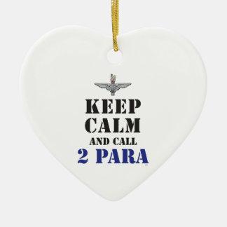 KEEP CALM AND CALL 2 PARA CERAMIC ORNAMENT