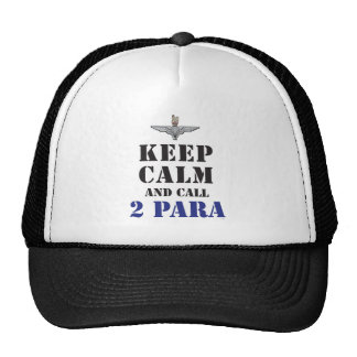 KEEP CALM AND CALL 2 PARA TRUCKER HAT