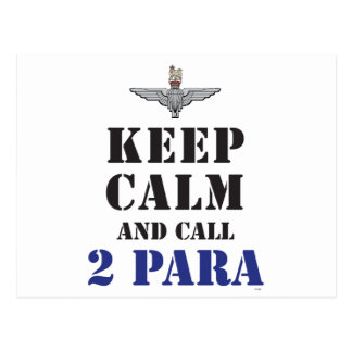 KEEP CALM AND CALL 2 PARA POSTCARD
