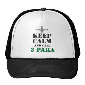 KEEP CALM AND CALL 3 PARA TRUCKER HAT