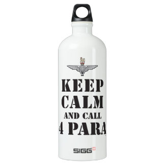 KEEP CALM AND CALL 4 PARA WATER BOTTLE