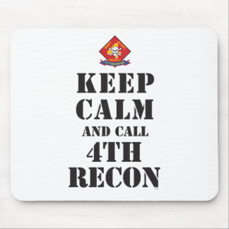KEEP CALM AND CALL 4TH RECON MOUSE PADS