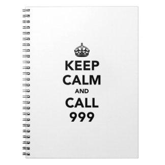 Keep Calm and Call 999 Spiral Notebook