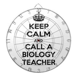 Keep Calm and Call a Biology Teacher Dartboards
