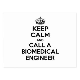 Keep Calm and Call a Biomedical Engineer Postcard
