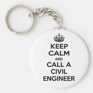 Keep Calm and Call a Civil Engineer Keychain