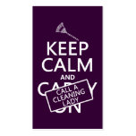 Keep Calm and Call A Cleaning Lady Double-Sided Standard Business Cards (Pack Of 100)