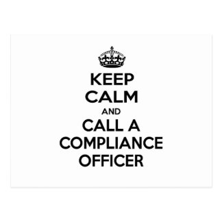 Keep Calm and Call a Compliance Officer Postcard