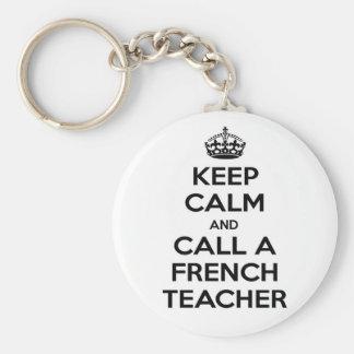 Keep Calm and Call a French Teacher Key Chain