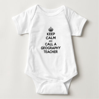 Keep Calm and Call a Geography Teacher Baby Bodysuit