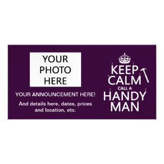 Keep Calm and Call A Handy Man (any color) Card