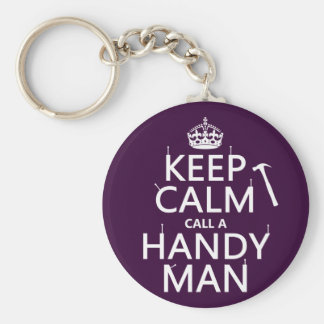 Keep Calm and Call A Handy Man (any color) Key Chain