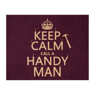 Keep Calm and Call A Handy Man (any color) Cork Paper Prints