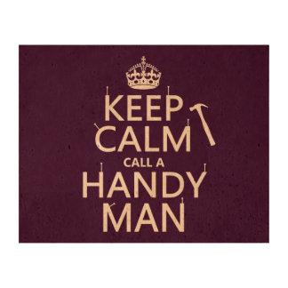 Keep Calm and Call A Handy Man (any color) Queork Photo Prints