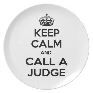 Keep Calm and Call a Judge Dinner Plates