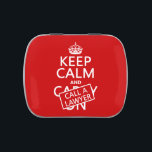 """Keep Calm and Call A Lawyer (in any color) Jelly Belly Tin<br><div class=""""desc"""">This reads &#39;Keep Calm and Call A Lawyer&#39;, and it&#39;s designed to look as though a sticker has been hastily applied over the letters&#39; Carry On&#39;. When simply carrying on is no longer working for you, you have to call a lawyer. It&#39;s a great fun design, which will always raise...</div>"""