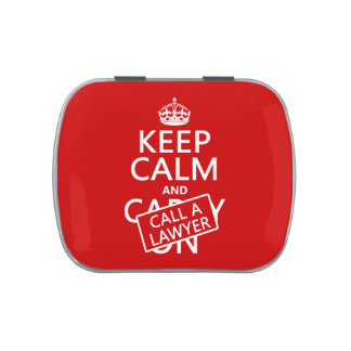 Keep Calm and Call A Lawyer (in any color) Jelly Belly Tin