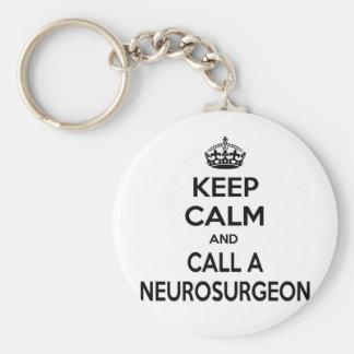 Keep Calm and Call a Neurosurgeon Basic Round Button Keychain