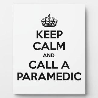 Keep Calm and Call a Paramedic Photo Plaque