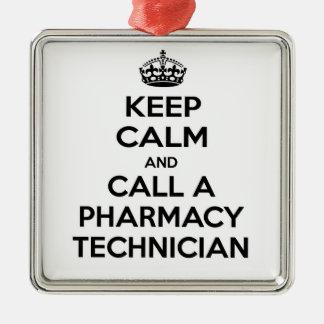 Keep Calm and Call a Pharmacy Technician Metal Ornament