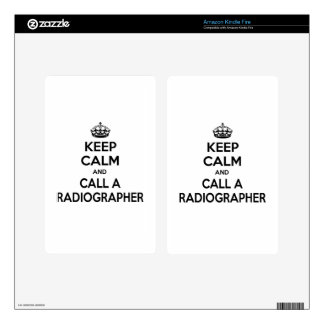 Keep Calm and Call a Radiographer Decals For Kindle Fire
