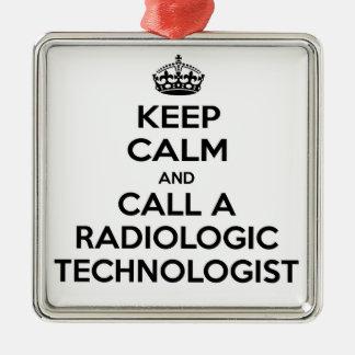 Keep Calm and Call a Radiologic Technologist Christmas Tree Ornaments