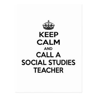 Keep Calm and Call a Social Studies Teacher Postcard