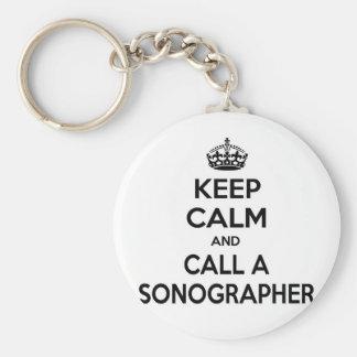 Keep Calm and Call a Sonographer Keychain