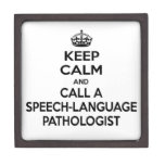 Keep Calm and Call a Speech-Language Pathologist Premium Gift Box