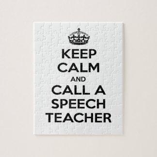 Keep Calm and Call a Speech Teacher Puzzle