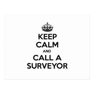 Keep Calm and Call a Surveyor Postcard