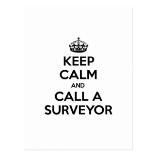 Keep Calm and Call a Surveyor Postcard
