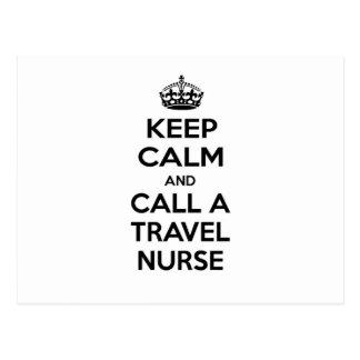 Keep Calm and Call a Travel Nurse Postcard
