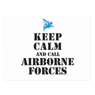 KEEP CALM AND CALL AIRBORNE FORCES POSTCARD