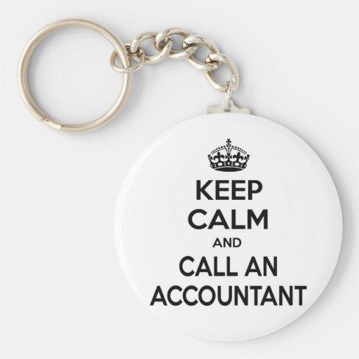 Keep Calm and Call an Accountant Basic Round Button Keychain