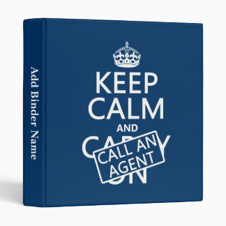 Keep Calm and Call An Agent Binder