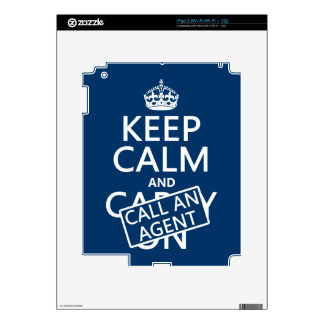 Keep Calm and Call An Agent Decal For The iPad 2