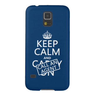 Keep Calm and Call An Agent Galaxy S5 Case