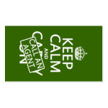 Keep Calm and Call An Agent (in any color) Double-Sided Standard Business Cards (Pack Of 100)