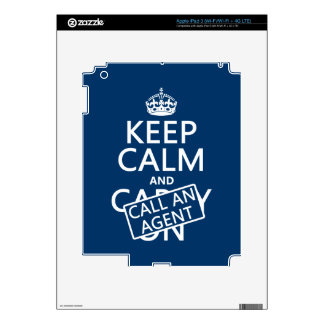 Keep Calm and Call An Agent iPad 3 Skins