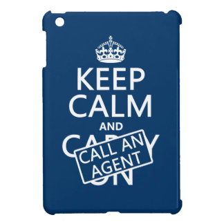 Keep Calm and Call An Agent iPad Mini Covers