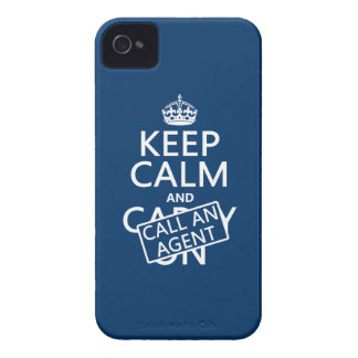 Keep Calm and Call An Agent iPhone 4 Case-Mate Case
