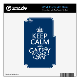 Keep Calm and Call An Agent iPod Touch 4G Decal